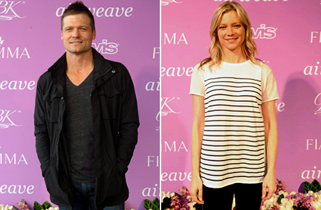 "Actors Bailey chase ""Saving Grace"" and Amy Smart ""The Butterfly Effect"""