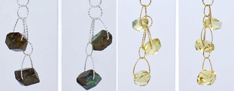 "Fegogioielli Jewelery gifted many gorgeous gemstone pieces like the Labradorite Double Stone Danglers and the Lemon Topaz Triple Stone ""Academy"" Danglers."
