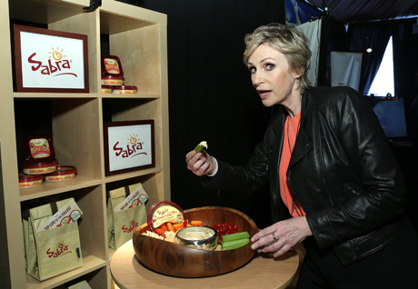 Jane Lynch with Sabra