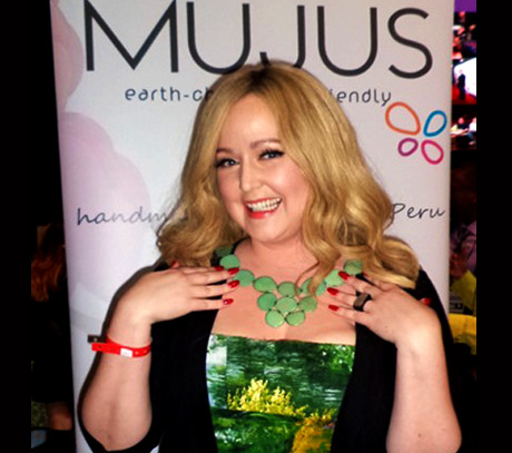The Voice star Katrina Parker with Mujus - photo courtesy of Mujus