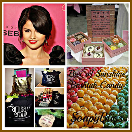 SelenaGomez at the LA at the Staples Center on her StarsDance world tour got SoapyBliss's Box of Sunshine Bathtub Candy