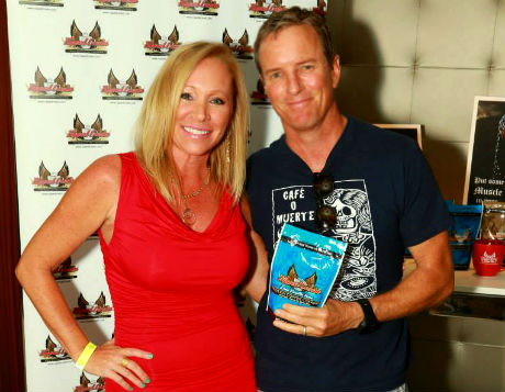 Robin Dimiceli, Owner and founder of Ripped Cream this pic is with Linden Ashby, Teen Wolf