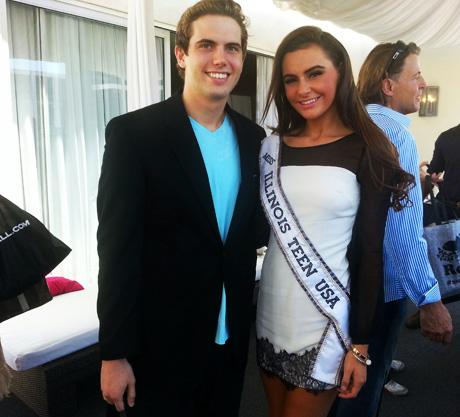 Miss Illinois Teen USA Miranda Fenzau with LATP writer Tyler Emery.