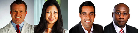 Dr. Travis Kidner, Dr. Eliza Jasmine Tran, Dr. Chopra and Dr. Eko