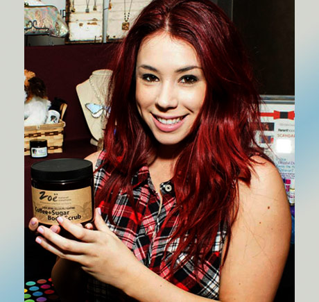Jillian Rose Reed of Awkward with Zoe Natural Creations.