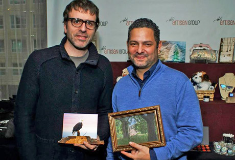 """Golden Globe winners of """"Best Screenplay for Birdman Movie"""", Nicolas Giacobone, with Fine Art Photography by Sylvia Hart and Alexander Dinelaris with Nature's Images By Design."""