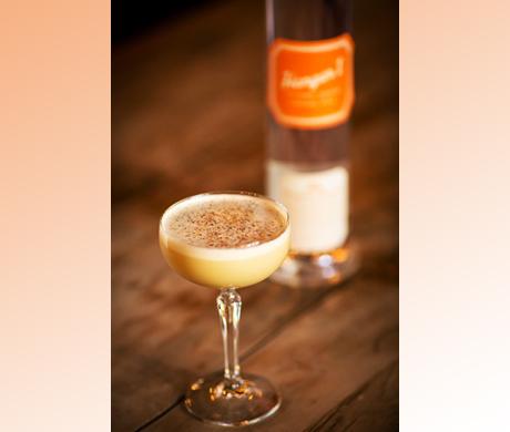 Great Twist on an Egg Nog Cocktail with Hangar 1 Mandarin Blossom Vodka