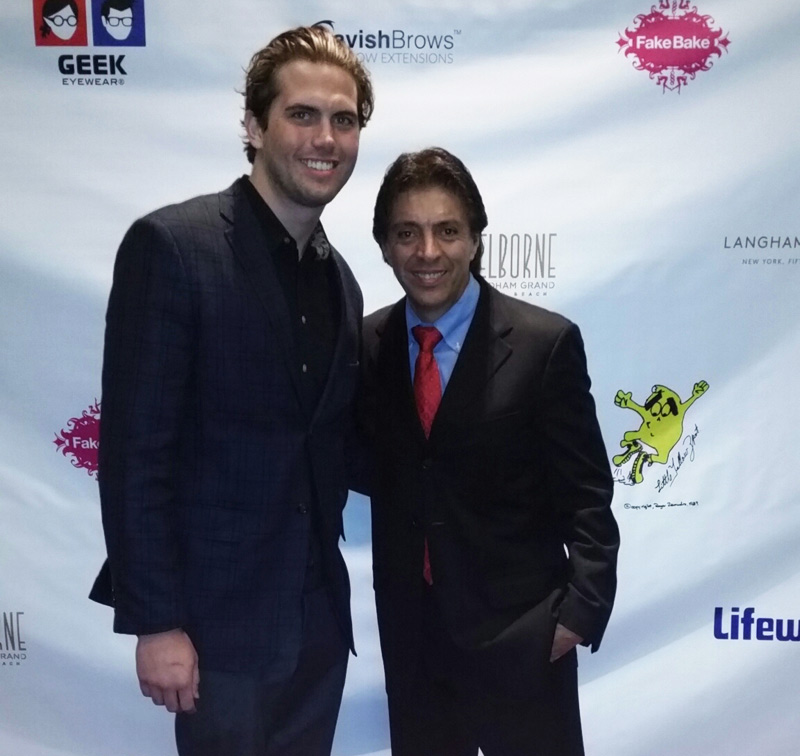 Tyler Emery of LA's The Place with Red Carpet Events LA founder Roger Zamudio.