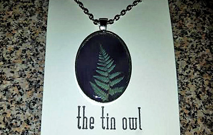 The Tin Owl Fern Necklace