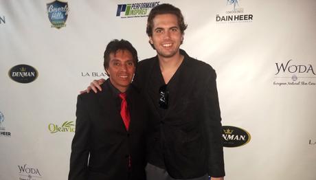 Red Carpet LA's Roger Zamudio and Reign Media's Tyler Emery.