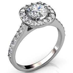 "Celeste ""Glory"" 18k White Gold Ring"