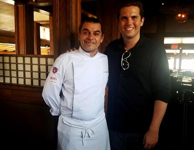 Executive chef Christophe Bonnergrace with LATP writer Tyler Emery.