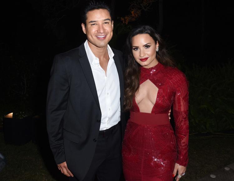 Mario Lopez and Demi Lovato