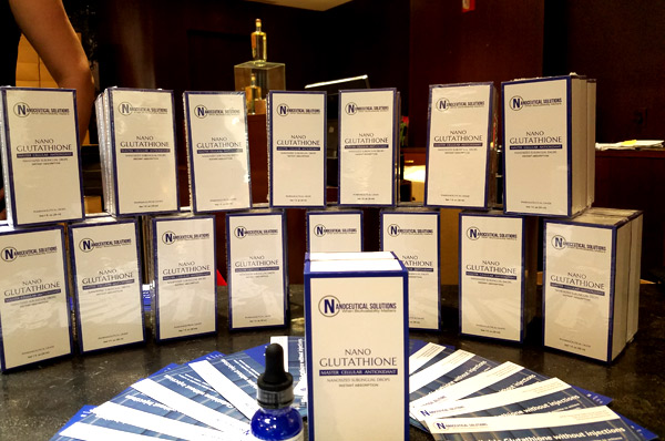 Nanocueticals Solution at the GBK pre Oscar celebrity lounge