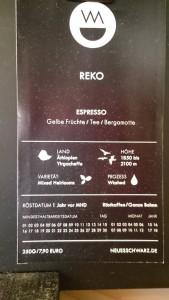 Reko-Espresso, Neues Schwarz, Dortmund