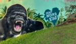 Gorilla-Graffiti absch(affen) - Wer brüllt am lautesten?