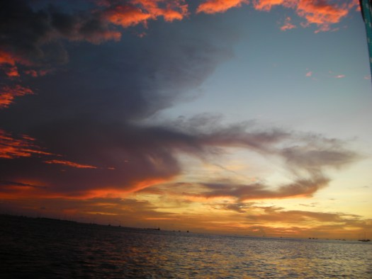 Key West sundown storm