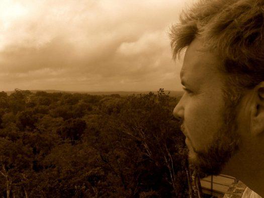 Tikal view Tadd sepia