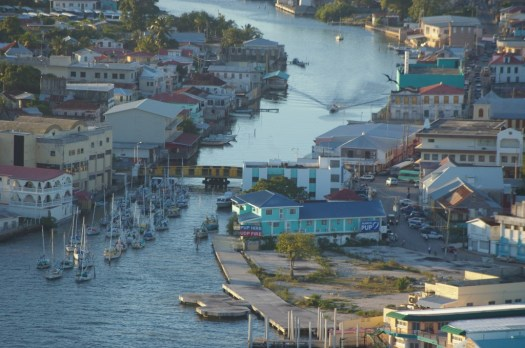 Belize city aerial photo