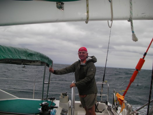 Don Peters at helm