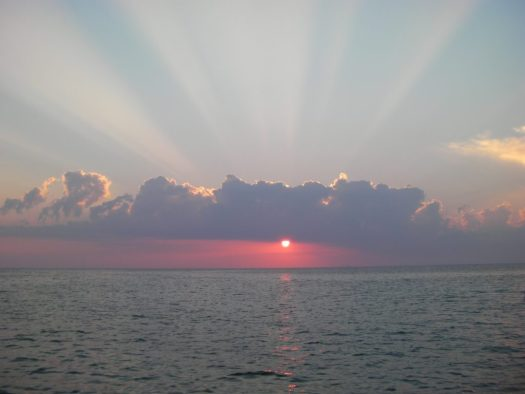 Another spectacular sunset offshore from Belize