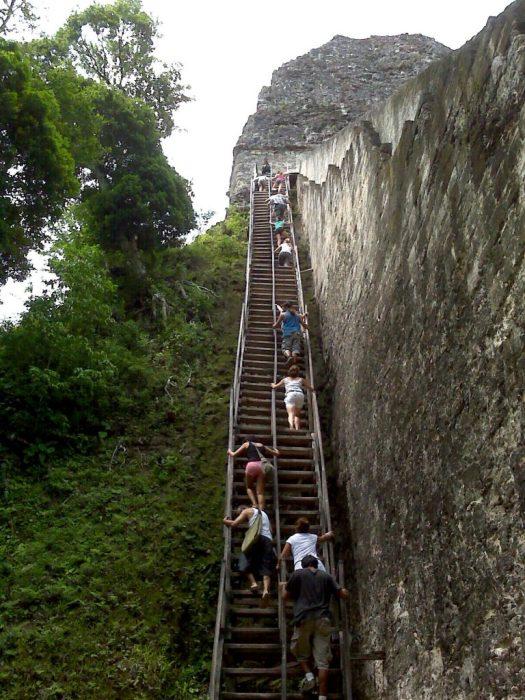 Tikal temple V stairs