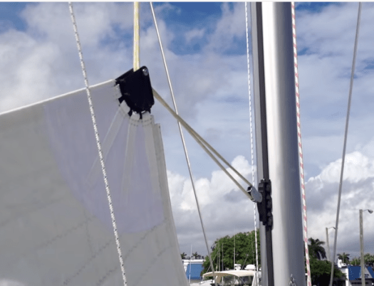 Doyle Anomaly Headboard system on a Leopard 48 catamaran