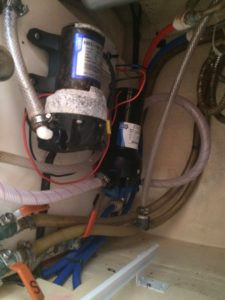 Pressurized water system with a redundant pump.