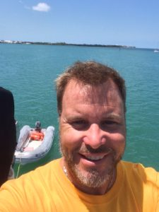 That's Fleming Key behind me, an obstacle to the west, and to the Atlantic.