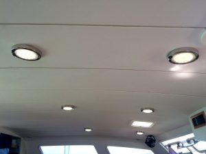 All new LED lights in the salon.