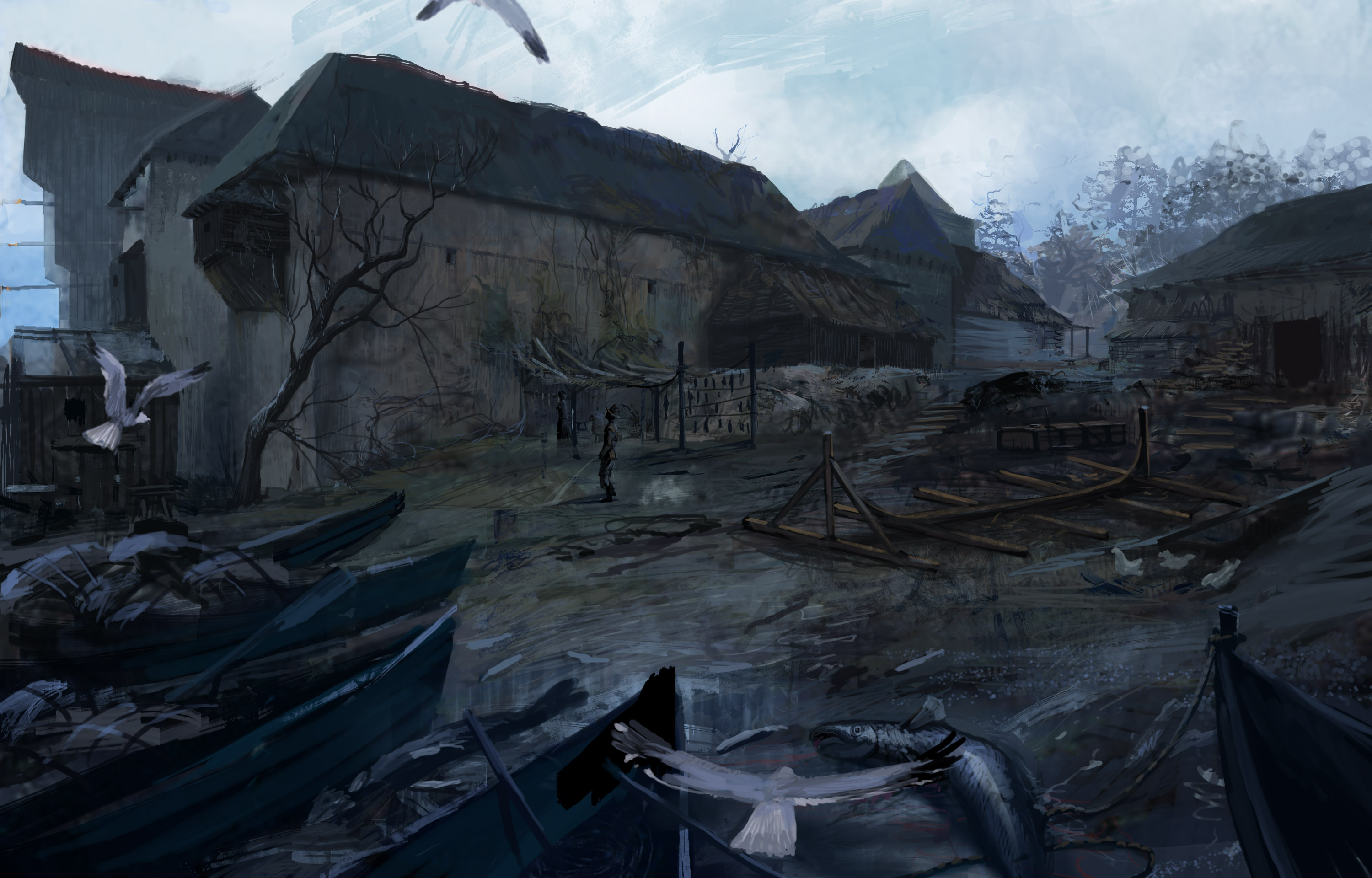 The Witcher 3 3d Wallpaper Concept Art The Witcher 2 Last Minute Continue