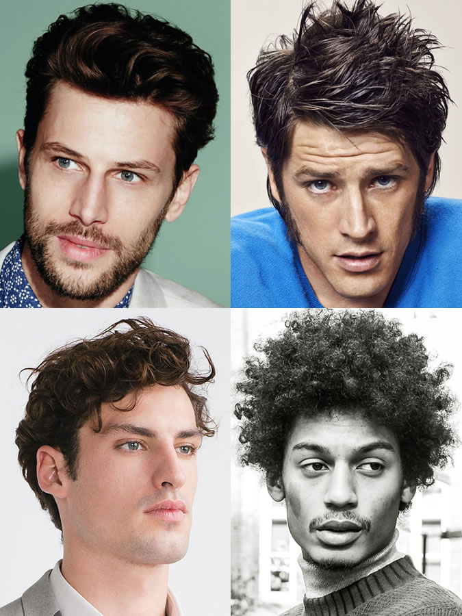 Men's hairstyles/haircuts for Triangle Face Shapes