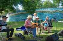 Melancholy Ramblers performing at Deep Eddy Pool's 100th Anniversary Party, Austin, Texas, May 21, 2016.