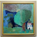 Landscape, 1999, painted at 5 or 6 (depending on the month), inspired by Romanian landscapes