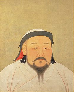 Kublai Khan in un ritratto cinese