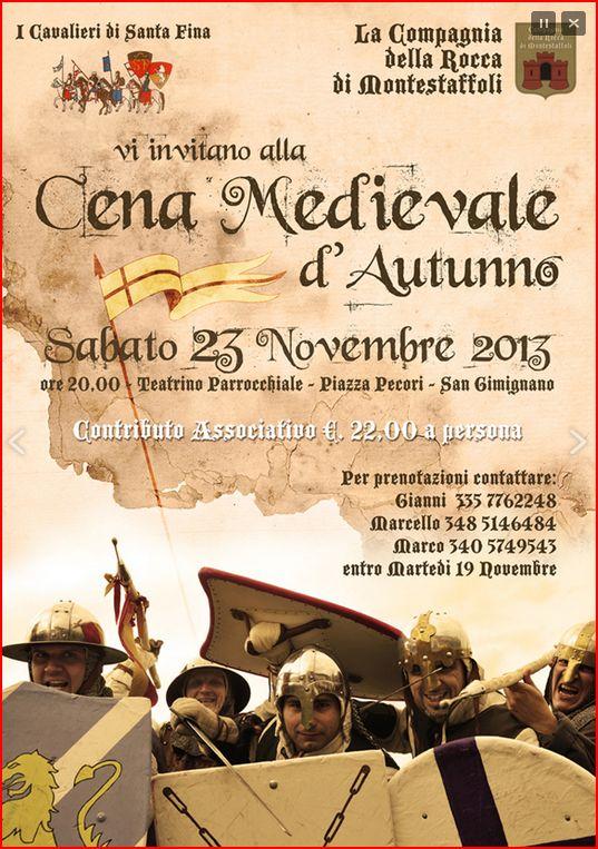 Cena medievale d'autunno San Gimignano