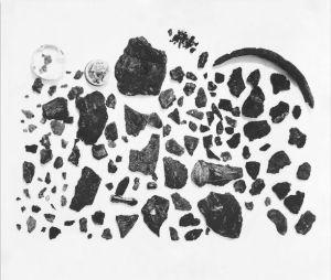 L'elmo fu rinvenuto in circa 500 frammenti (Trustees of the British Museum)