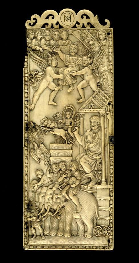 Dittico in avorio di Simmaco, con scena di apoteosi, Londra, British Museum, fine del IV secolo d.C.