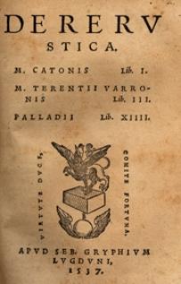 De re rustica di Columella, edizione del 1537