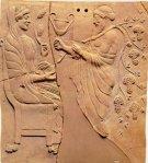 Dioniso e Persefone, santuario di Persefone a Locri (in Magna Grecia)