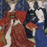 Cristina consegna il manoscritto alla regina Isabella di Baviera