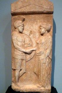 Pietra tombale di Filosseno e Filomene, Collezione di Villa Getty