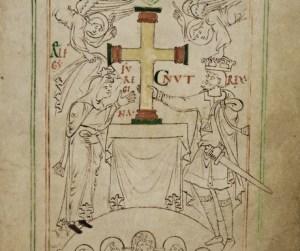 Un dettaglio dal manoscritto Liber Vitae. Fotografia: The British Library Board.