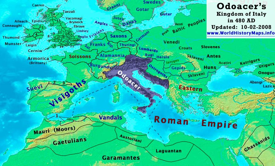 Regno di Odoacre nel 480