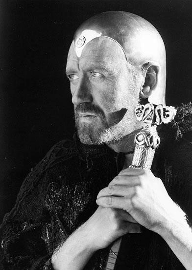 Lo splendido Merlino interpretato da Nicol Williamson in Excalibur di John Boorman