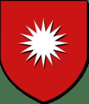 Stemma di rosso alla stella piena d'argento (di pertinenza del Duca di Presenzano e suoi discendenti)