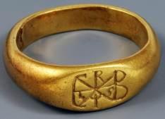 Anello in oro dal tesoro di Desana