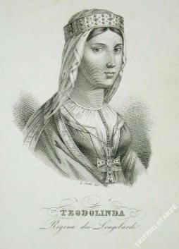 Teodolinda in una stampa ottocentesca