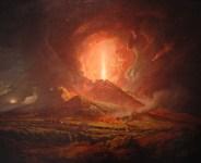 ERuzione del Vesuvio dipinta da Joseph Wright of Derby - Art collection of the Huntington Library in Pasadena, CA