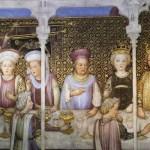 Il banchetto nuziale di Teodolinda interpretato dalla bottega degli Zavattari nel XV sec, Monza